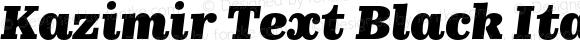 Kazimir Text Black Italic