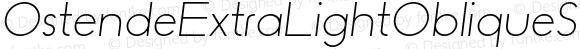 OstendeExtraLightObliqueSansW01-XLt Regular Version 1.10