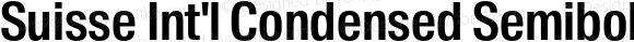 Suisse Int'l Condensed Semibold