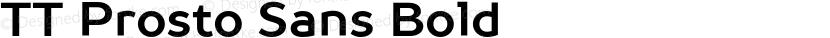 TT Prosto Sans Bold Preview Image