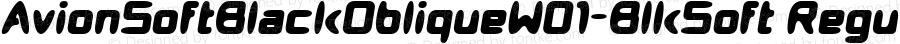 AvionSoftBlackObliqueW01-BlkSoft Regular Version 1.00