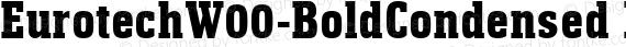 EurotechW00-BoldCondensed Regular preview image
