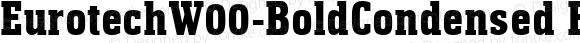 EurotechW00-BoldCondensed Regular Version 1.20