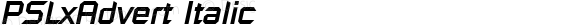 PSLxAdvert Italic Version 1.000 2004 initial release