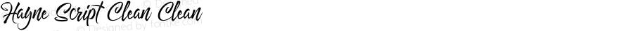Hayne Script Clean Clean Version 1.000 | Dexsar Harry Anugrah (Majestype)