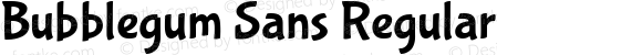 Bubblegum Sans Regular