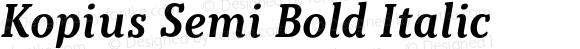 Kopius Semi Bold Italic