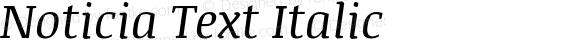 Noticia Text Italic