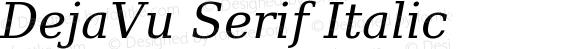 DejaVu Serif Italic