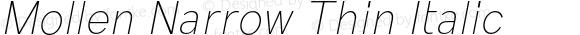 Mollen Narrow Thin Italic