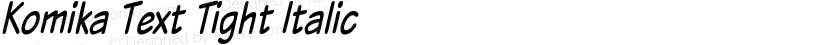 Komika Text Tight Italic Preview Image