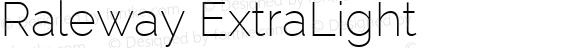 Raleway ExtraLight