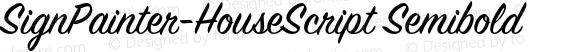 SignPainter-HouseScript Semibold preview image
