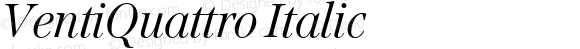 VentiQuattro Italic