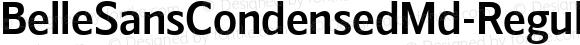 BelleSansCondensedMd-Regular ☞ Version 1.000 2016;com.myfonts.easy.park-street-studio.belle-sans.condensed-md.wfkit2.version.4yzw