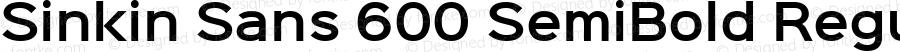 Sinkin Sans 600 SemiBold Regular