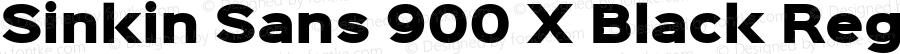 Sinkin Sans 900 X Black Regular