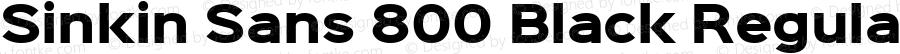 Sinkin Sans 800 Black Regular