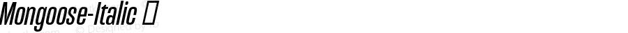 Mongoose-Italic ☞ Version 001.000;com.myfonts.easy.kostic.mongoose.italic.wfkit2.version.4Av1