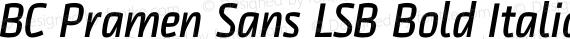 BC Pramen Sans LSB Bold Italic preview image