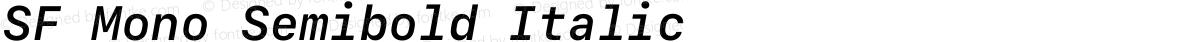 SF Mono Semibold Italic