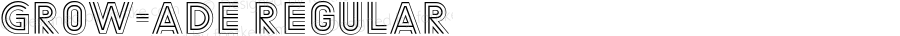 Grow-ADE Regular Version 1.002;PS 1.2;hotconv 1.0.70;makeotf.lib2.5.58329 DEVELOPMENT