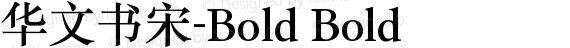 华文书宋-Bold Bold preview image