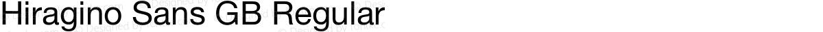 Hiragino Sans GB Regular