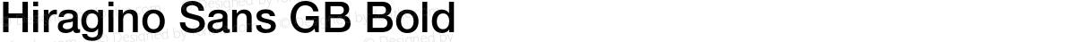 Hiragino Sans GB Bold