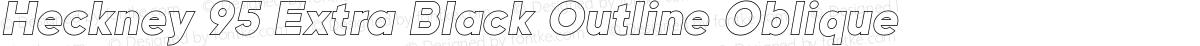 Heckney 95 Extra Black Outline Oblique