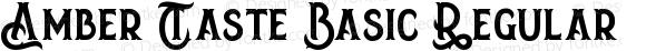 Amber Taste Basic Regular Version 1.00 August 24, 2016, initial release