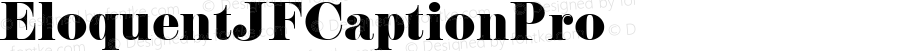 EloquentJFCaptionPro ☞ Version 2.000;com.myfonts.easy.cbx-jukebox.eloquent-jf-pro.caption.wfkit2.version.4yjW