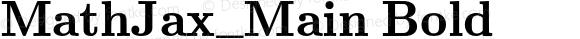MathJax_Main Bold