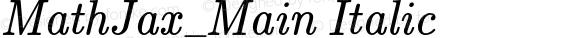MathJax_Main Italic