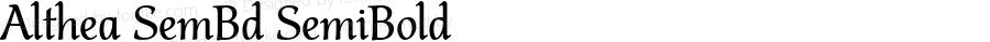 Althea SemBd SemiBold Version 1.01 2016