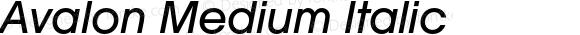 Avalon Medium Italic