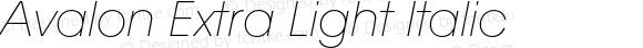 Avalon Extra Light Italic