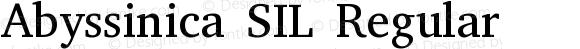 Abyssinica SIL Regular