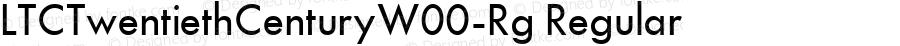LTCTwentiethCenturyW00-Rg Regular Version 3.00