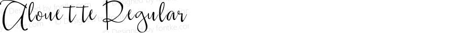 Alouette Regular Version 1.00 May 19, 2016, initial release