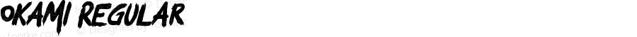 Okami Regular Version 1.00 September 15, 2016, initial release