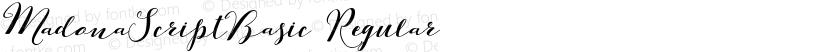 MadonaScriptBasic Regular Preview Image