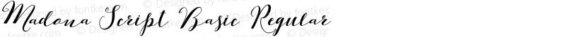 Madona Script Basic Regular Preview Image
