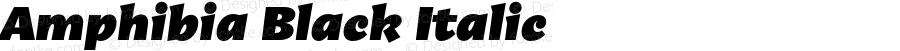 Amphibia Black Italic Version 001.000