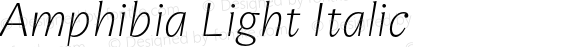 Amphibia Light Italic Version 001.000