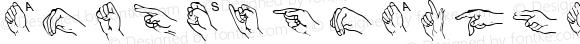 AmerSignAlphaW95-Regular Regular Version 1.00