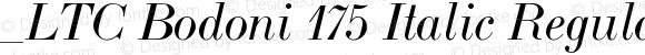 _LTC Bodoni 175 Italic Regular Version 1.0 Extracted by ASV http://www.buraks.com/asv