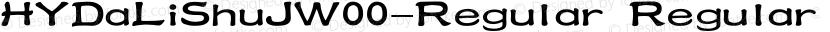 HYDaLiShuJW00-Regular Regular Preview Image