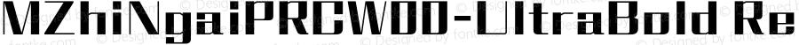MZhiNgaiPRCW00-UltraBold Regular Version 1.00