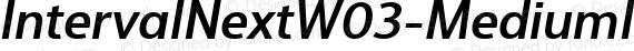 IntervalNextW03-MediumIt Regular preview image